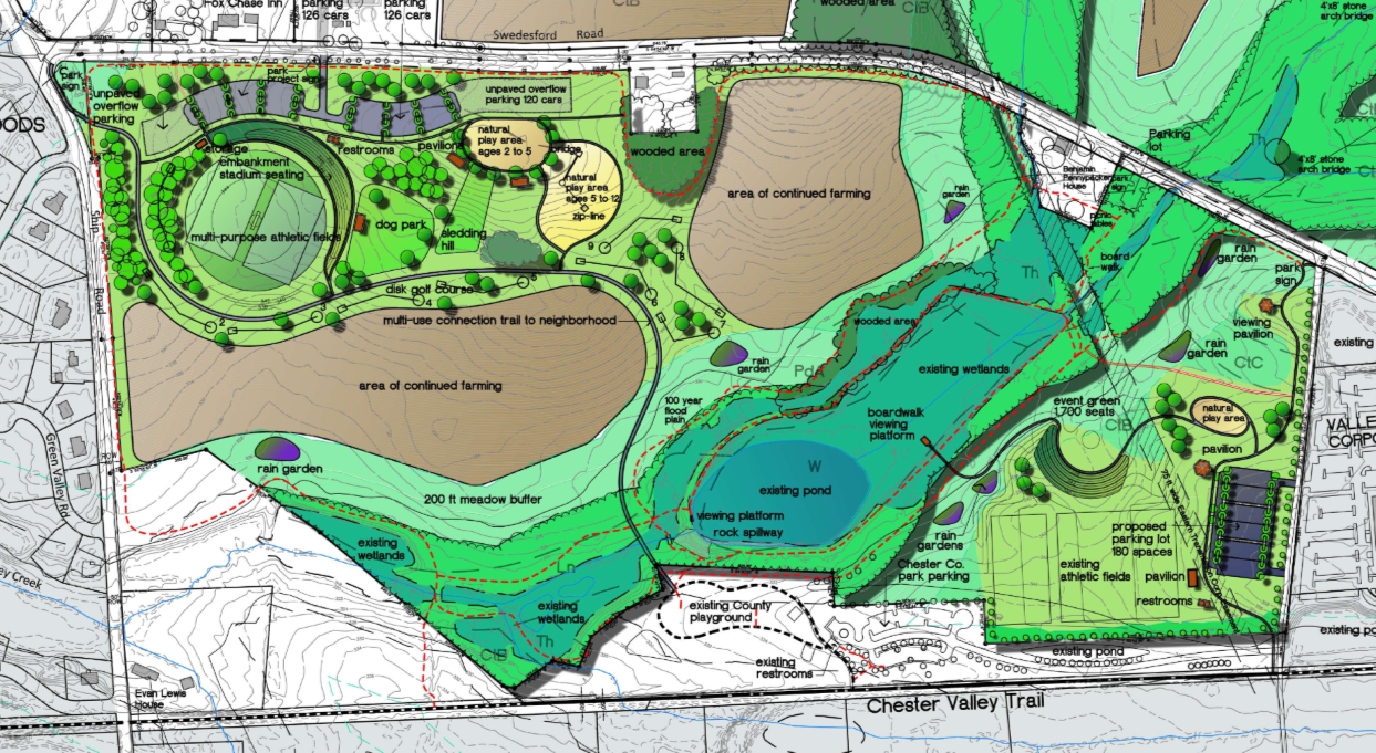 Exton Park Swedesford Rec Area Diagram